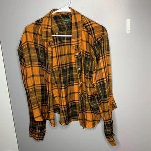 Target orange flannel